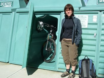 cyclist in front of pedalpod